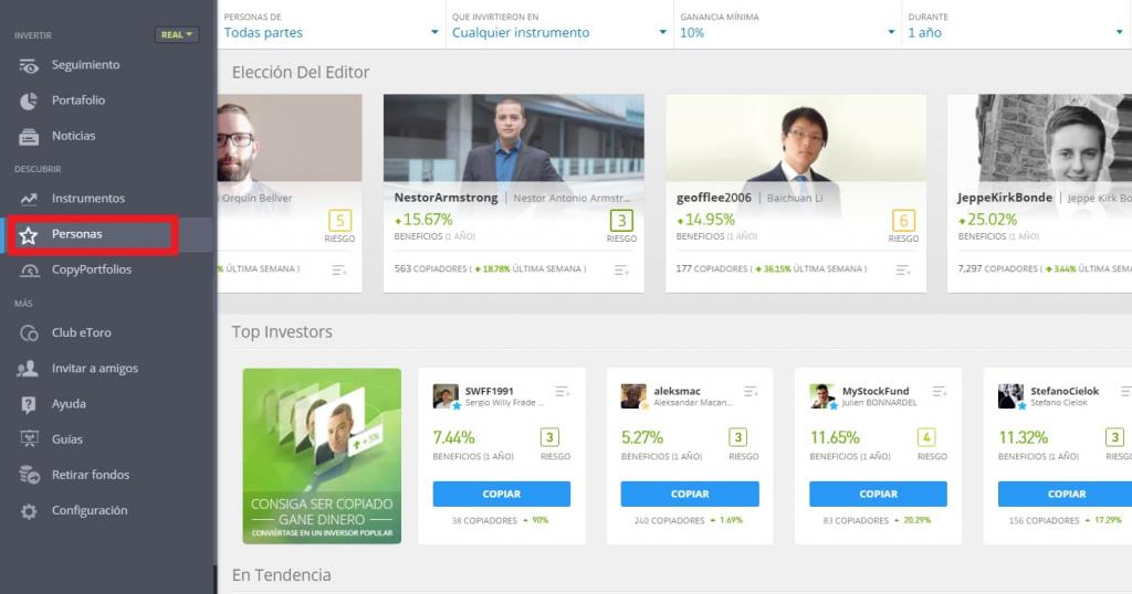 Social Trading - Copiar a otros traders con eToro