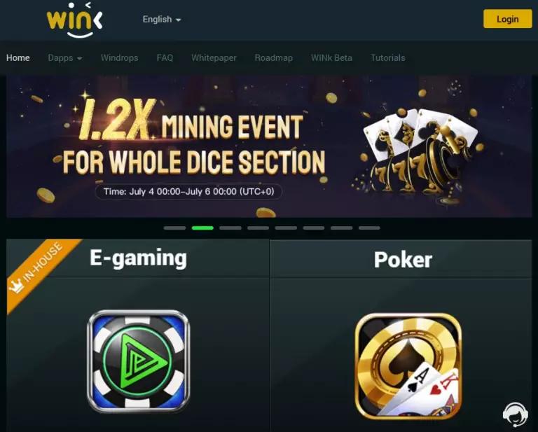 Tron - Wink es una Plataforma de Casino y Apuestas con TRX