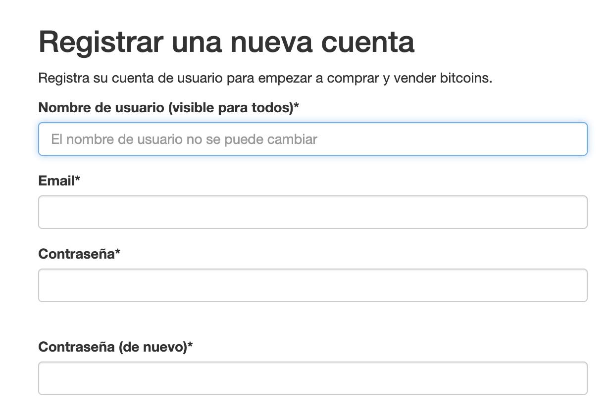 Registro en LocalBitcoins